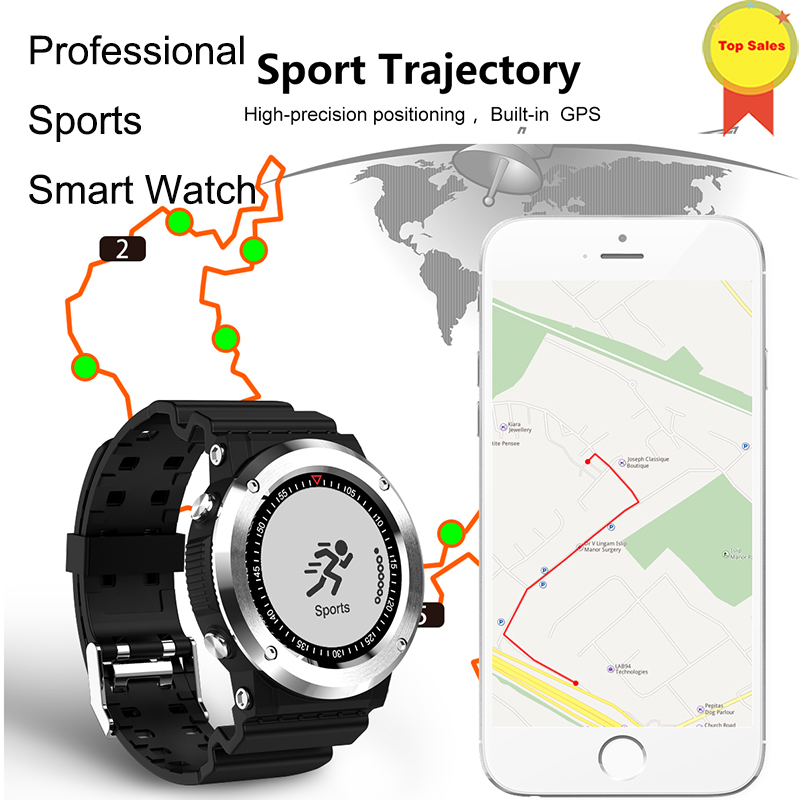 GPS Smartwatch GPS Bluetooth 4 0 Smart Watch Sedentary Remind Information Push Heart Rate Monitor Pedometer compass sports watch in Smart Watches from Consumer Electronics