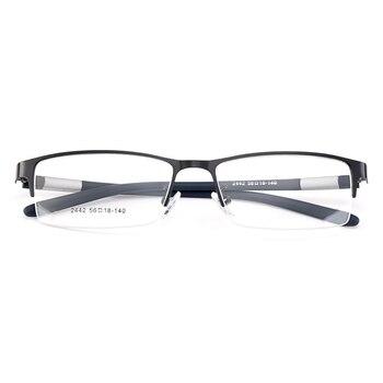 Gmei Optical Men Titanium Alloy Eyeglasses Frame for Men Eyewear Flexible Temples Legs IP Electroplating Alloy Spectacles Y2442 10