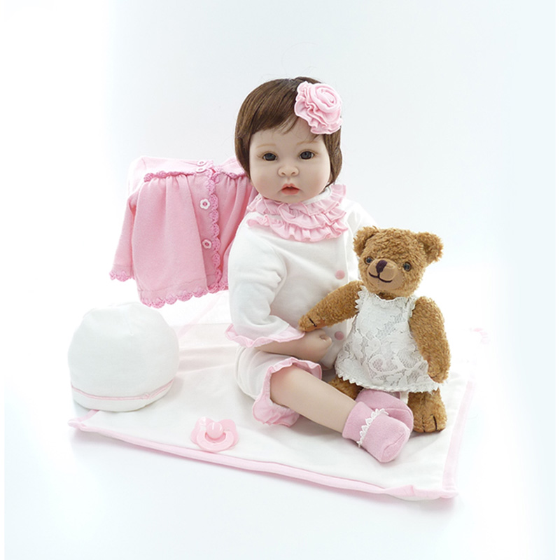 Здесь продается  Wholesale 22 Inch Reborn Baby Doll Princess Girl Dolls Soft Silicone Babies Girls Lifelike Reborn Baby Doll Handmade Newborn Toy  Игрушки и Хобби