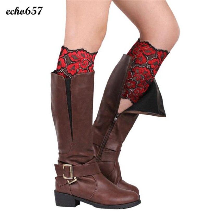 Echo657 New Fashion Crystal Women Stretch Lace Boot Leg Cuffs Soft Laced Boot Socks Nov 8