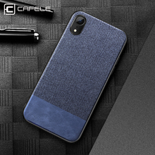 hot deal buy cafele fabrics case for iphone xr xs max ultra thin soft tpu edge business phone cover for iphone xr xs max anti knock case