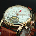 MG. ORKINA Mens Watches Rose Gold Case Auto Date Display Tourbillon Automatic Mechanical Watch Reloj Hombre