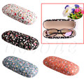1pc Sunglasses Case Protable Floral Sunglasses Hard Eye Glasses Case Eyewear Protector Box Pouch Bag