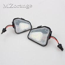 18-SMD LED Parlak Beyaz Ortam Aydınlatma Dış Ayna Puddle Işık Volkswagen Passat B7 Passat CC Için