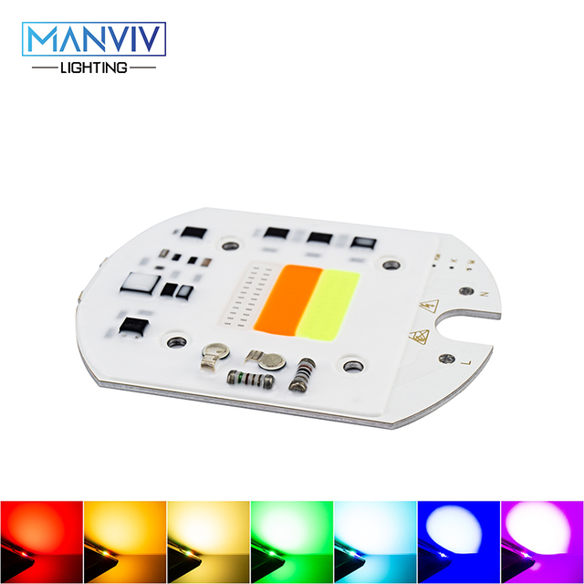LED RGB COB Chip Colorful Light 30W 220 230V Smart IC LED Chip Bead For DIY Spotlight Red Green Blue Alternation Decoration Lamp