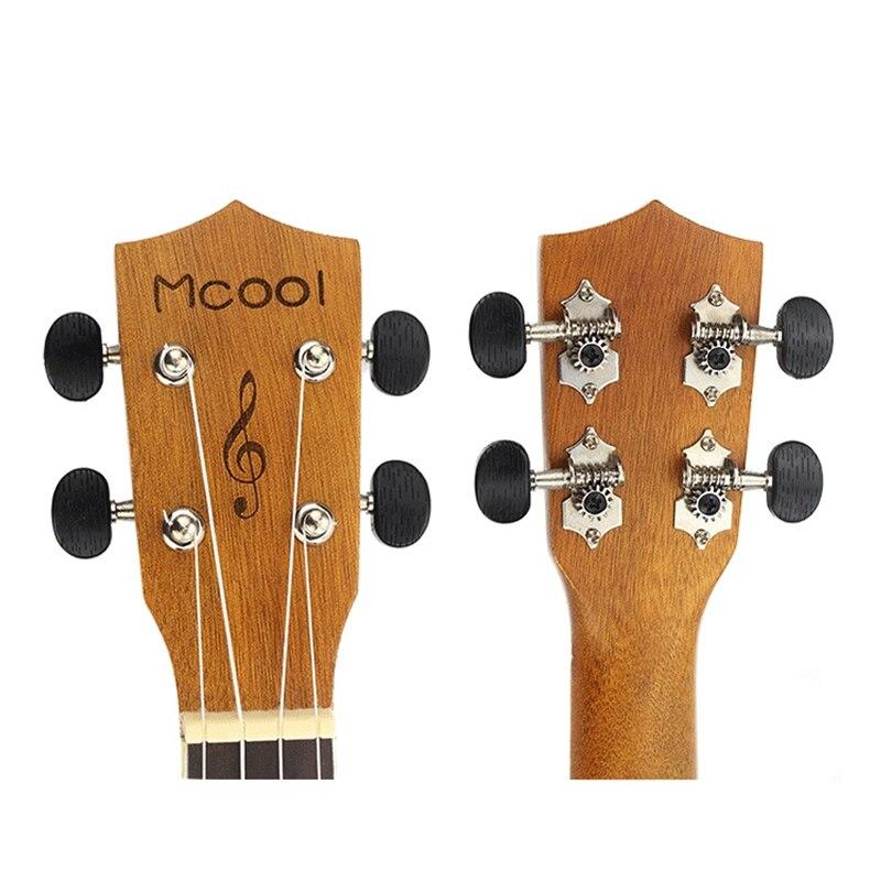 Mcool 23 pouces Concert épicéa palissandre touche Ukelele Ukulele 4 cordes Hawaii Mini guitare Uke en forme de coeur ton trou - 5