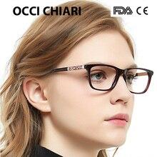 Occi chiari óculos de olho quadros para mulheres designer marca alta qualidade retro metal acetato médico do vintage eyewear W CERIANA