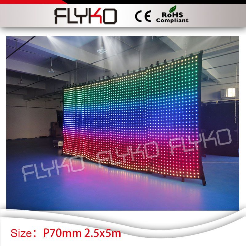 art deco ceiling light fixtures rgb growing light P7cm video curtain led 2.5m*5m backdrop