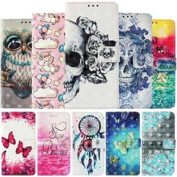Чехлы-бумажники для Motorola Moto G6 G5S Plus E4 Z2 Z4 Play C E5 Plus, чехол для телефона с рисунком пони, бабочки, совы, музыки, призрака, E03Z
