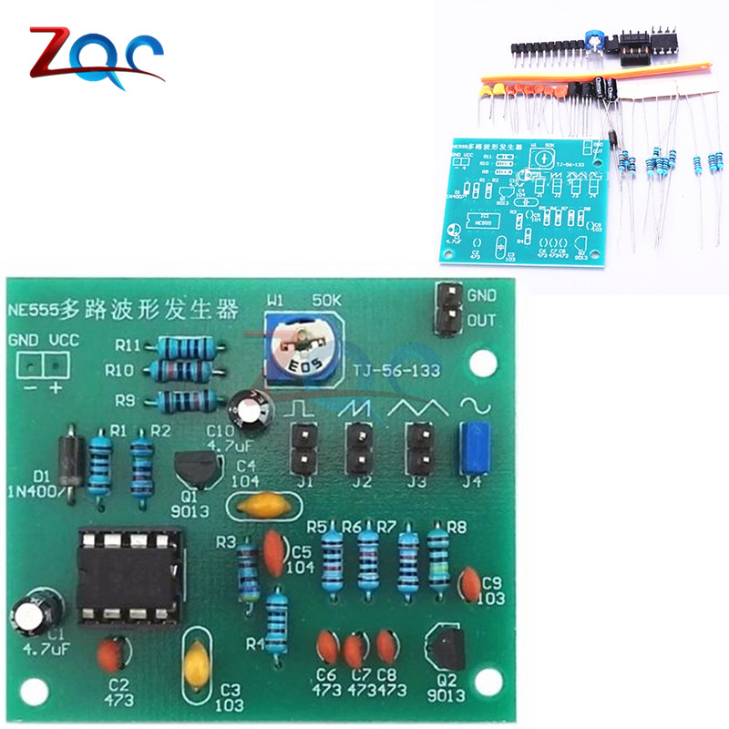 DIY Kits NE555 Multi-channel Waveform Generator Suite Sine Triangle Square Wave Electronic Training Kit ne555d ne555 sop8