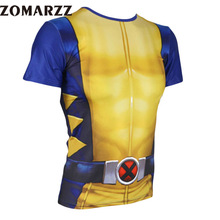 Mens Short Sleeve  3D Printed T-shirt Cosplay Costume Compression Crossfit Jersey Fitness Tops