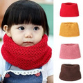 2016 Hot Selling Winter Neckerchief Women Children's Cotton Muffler Baby bib Warm Soft Boys Scarves Girls Knitted O Ring Scarf