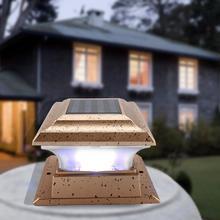 купить Solar Powered Garden Security Lamp Outdoor Waterproof Home Garden  solar light outdoors solar lamp solar light онлайн