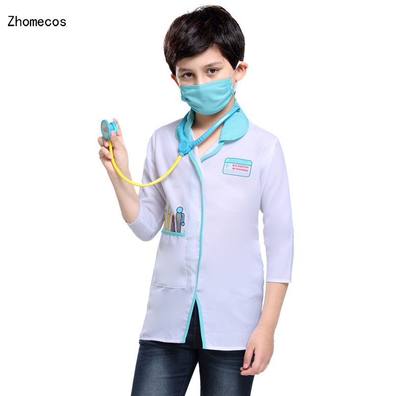 Children Vet Doctor Suit Costumes Cosplay For Boys Girls Halloween Party Game Costume Cosplay
