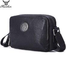 Flanker Mens Messenger BAG Multi function leather zipper Messenger Phone shoulder Bag business waterproof casual handbag