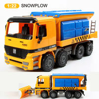 1:22 high quality ABS plastics car model hot wheel big size friction power snow plow truck car brinquedos