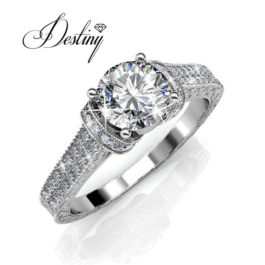 Destiny Jewellery wedding rings Embellished with crystals from