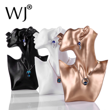 2016 New 11 Necklace Chain Jewelry Display Stand Bust Decor Figure Mannequin Model Earrings Holder Organizer