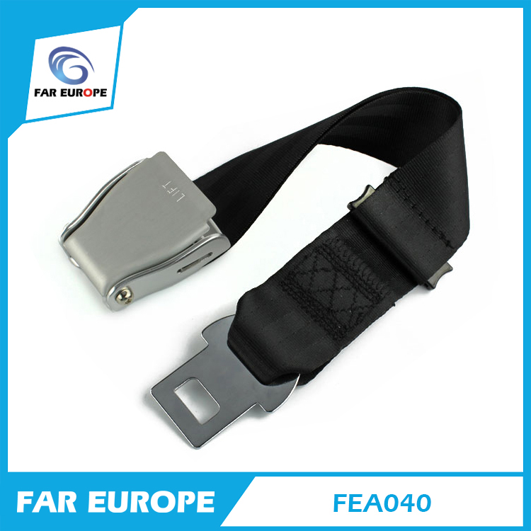 Airplane Seat Belt Extender Extension (7-24) - Fits All Airlines (Except Southwest) Width 47mm Adjustable Black Grey FEA040