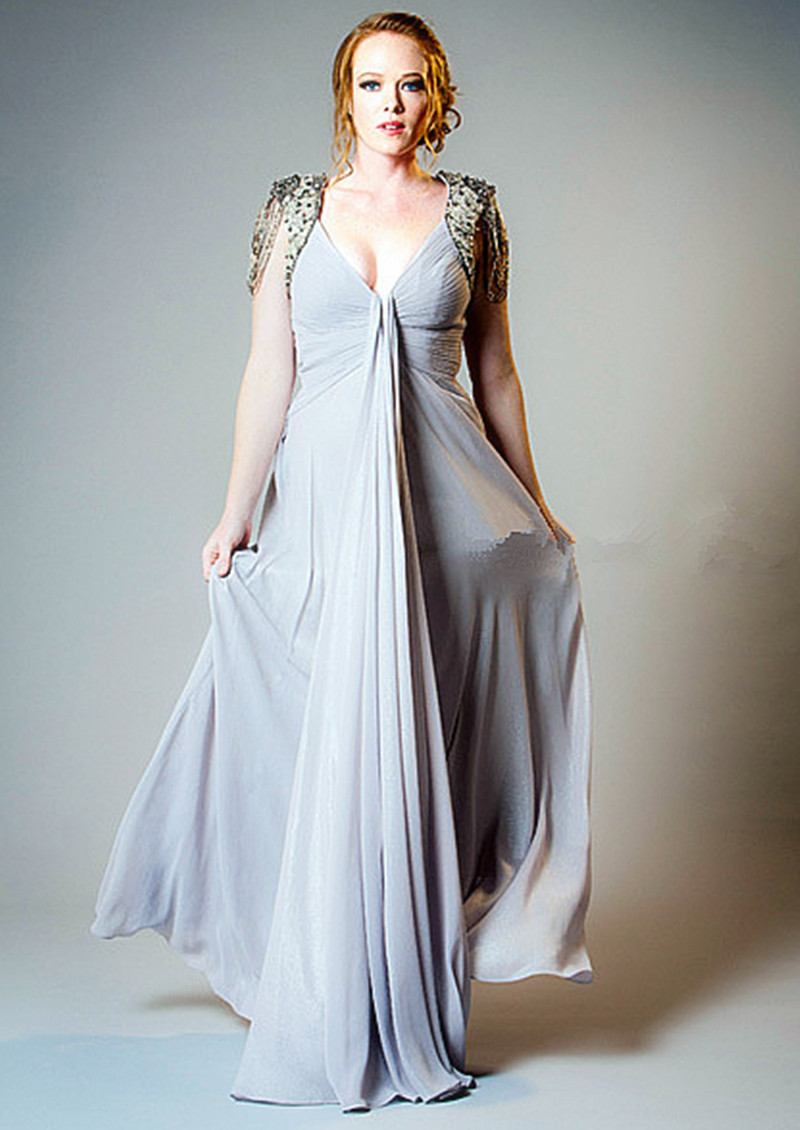 Popular pregnant long dresses for evening buy cheap pregnant long sexy v neck beaded cap sleeves long chiffon evening dresses 2016 for pregnant women dress party ombrellifo Choice Image