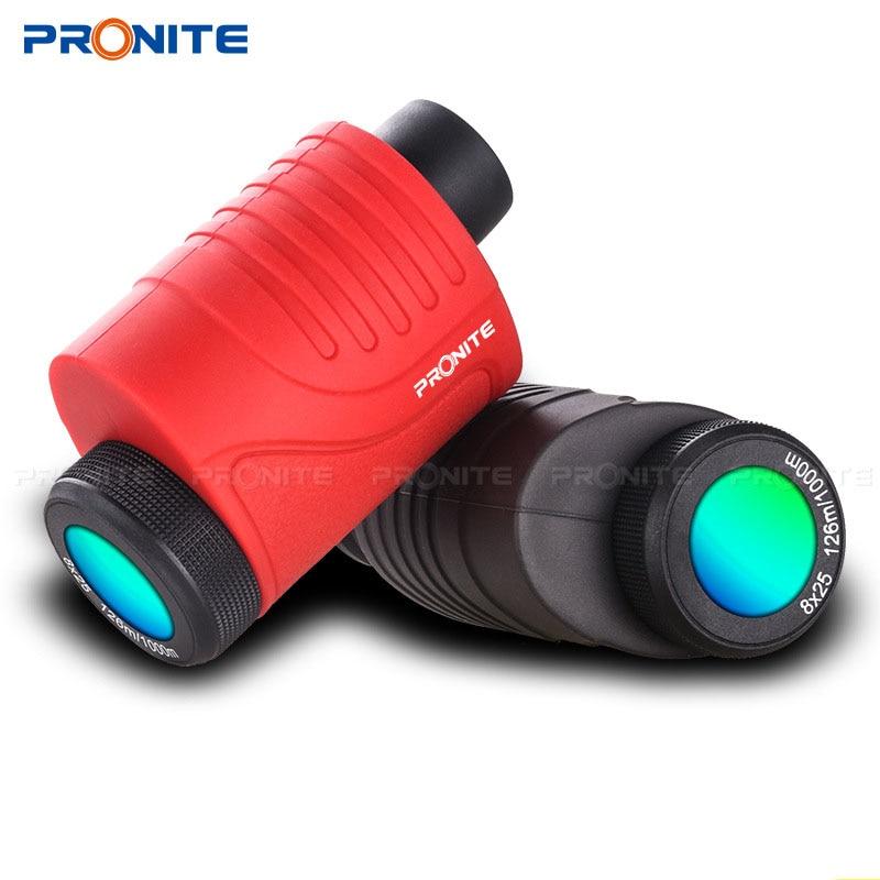 Professional Zoom Monocular 8x25 Waterproof Telescope HD Night Vision Portable Spyglass Binocular Hunting Shooting Golf Tourism-in Monocular/Binoculars from Sports & Entertainment