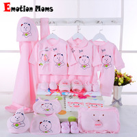 Emotion Moms Newborn Baby Girls Clothes Cotton 0 6months Infants Baby Girl Boys Clothing Set Baby