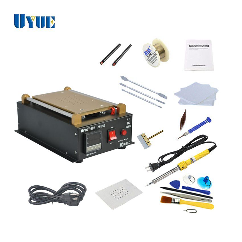 UYUE Latest 7 inch LCD Separator Machine Screen Repair Machine Kit for iPhone for Samsung Build-in Pump Vacuum Separator Machine 9 6 inch newest uyue 946s lcd separator screen assembly preheating station machine for mobile phone repair