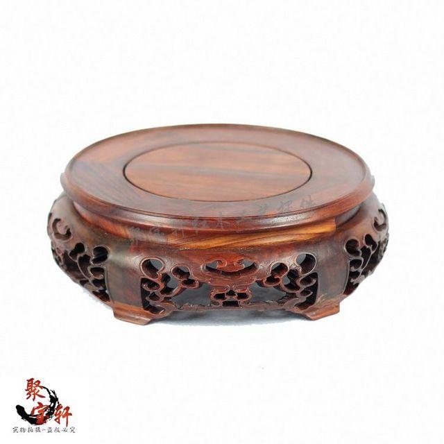 Agir de domicílios o papel ofing é provado base circular de Buda escultura em madeira de mogno artesanato artigos de decoração vaso