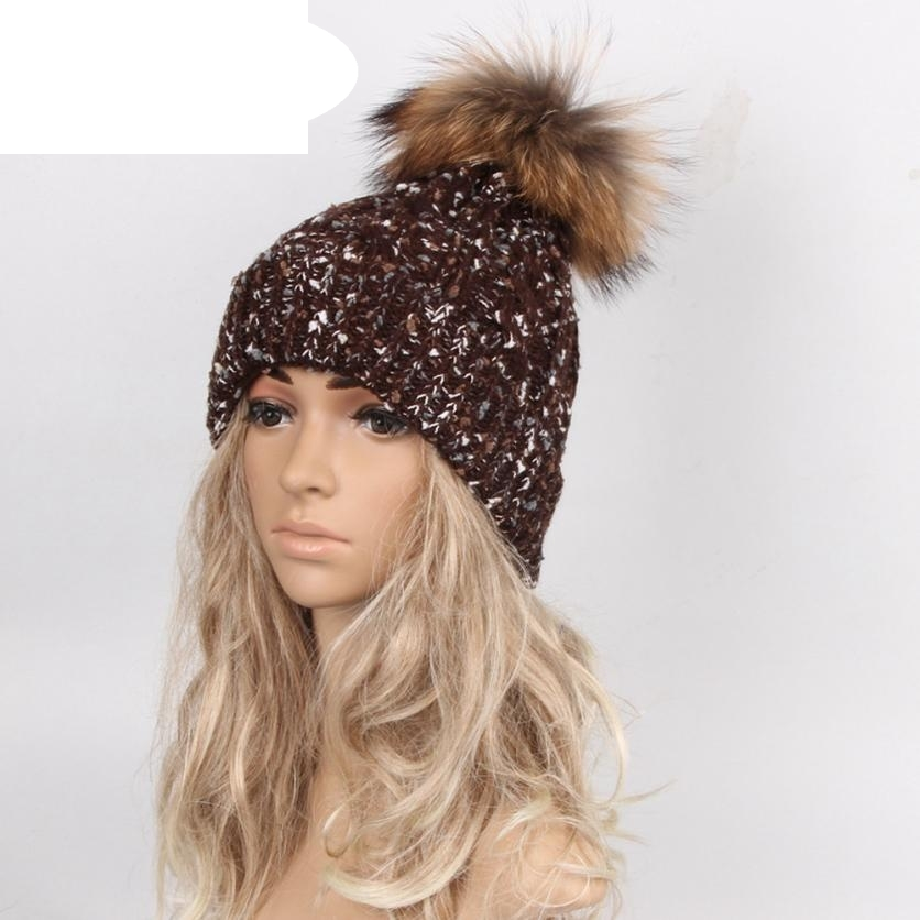 Hot Skullies Beanies Winter Autumn Hat pom pom Caps For Women Girl Vintage Design Hemming Warm Hat Female Drop Shipping WDec13 skullies beanies newborn cute winter kids baby hats knitted pom pom hat wool hemming hat drop shipping high quality s30