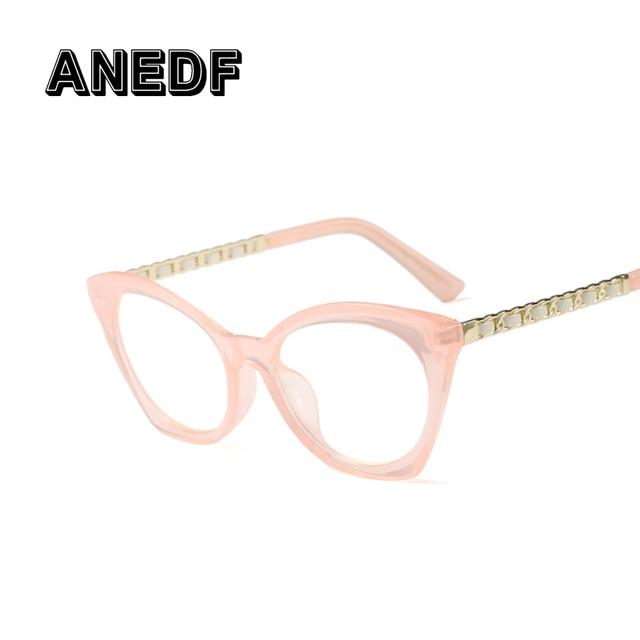 d9ed35690fb ANEDF 2018 Fashion Cat Eye Glasses Frames Women Brand Design White Red  Optical Eyeglasses Frame cat eye Female Eyewear