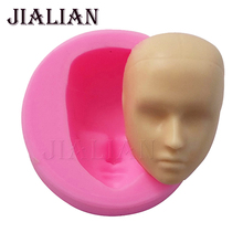 DIY Boy man Face Silicone Mold Fondant Molds Cake Decorating Tools Chocolate Gumpaste Mould 3D Polymer Clay Resin T-790