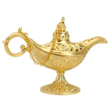 Traditional Hollow Out Fairy Tale Aladdin Magic Lamp Light Miniatures Ornaments Tea Pot Genies Lamp Decoration Crafts traditional russian fairy tales reflected in lacquer miniatures