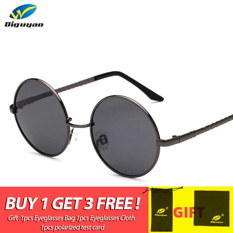 0046fbff4682 fashion sunglass TAC Lens polarized classic Round Sunglasses Women Metal  Frame Sunglass Men Brand Sun Glasses