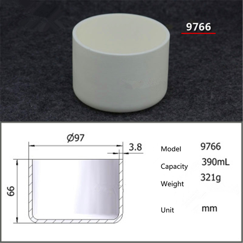 99.5% Cylindrical corundum crucible/Alumina ceramic crucible/390ml/Temperature resistance 1600 degree / sintered ceramic crucibl99.5% Cylindrical corundum crucible/Alumina ceramic crucible/390ml/Temperature resistance 1600 degree / sintered ceramic crucibl