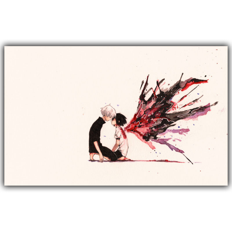 New Tokyo Ghoul Ken Silk Canvas Wall Decoration Poster Boys and Girls Bedroom Decoration Cartoon Wallpaper DM494