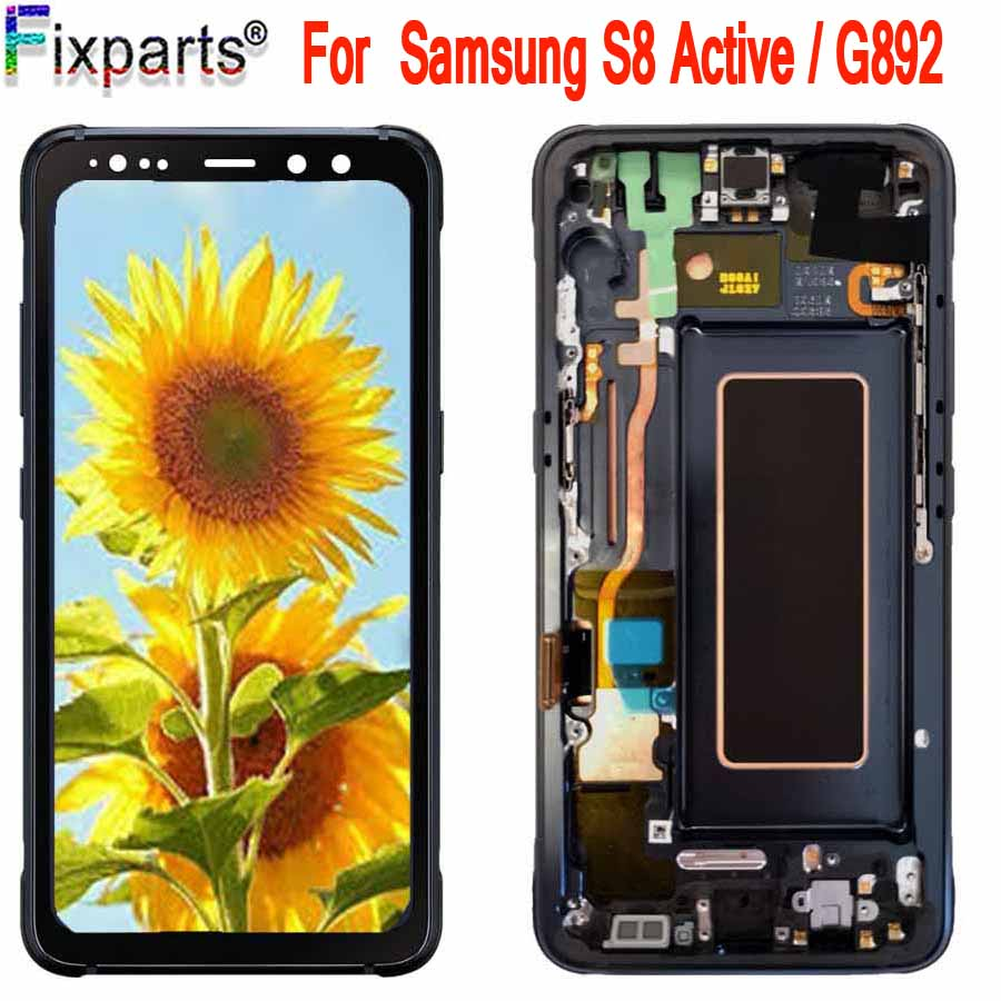 Super Amoled Für <font><b>Samsung</b></font> <font><b>Galaxy</b></font> <font><b>s8</b></font> Aktive LCD Display Touchscreen digitizer Montage Ersatz Für <font><b>Samsung</b></font> G892 G892A G892u image