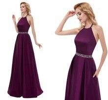 2020 Long Maxi Dresses Robe De Soiree Halter Backless Prom Party Gowns A-line Formal Evening Gowns Long Vestido De Festa цена и фото
