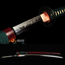 Handmade Battle Ready Clay Tempered T10 Steel Blade Sword katana  Full Tang