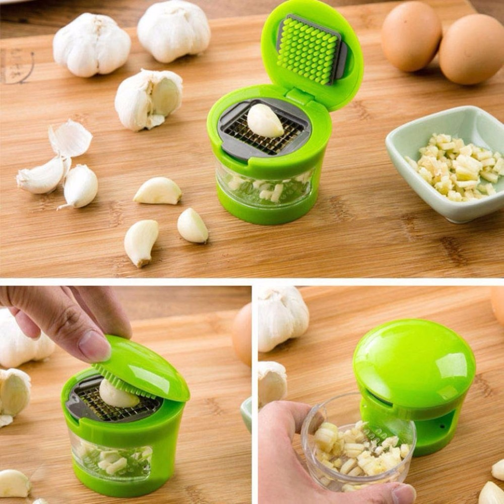 Kitchen Mini Garlic Press Presser Onion Chopper Cutter Mincer Slicer Dicer Grater Vegetable Tools Ginger Cooking Accessories