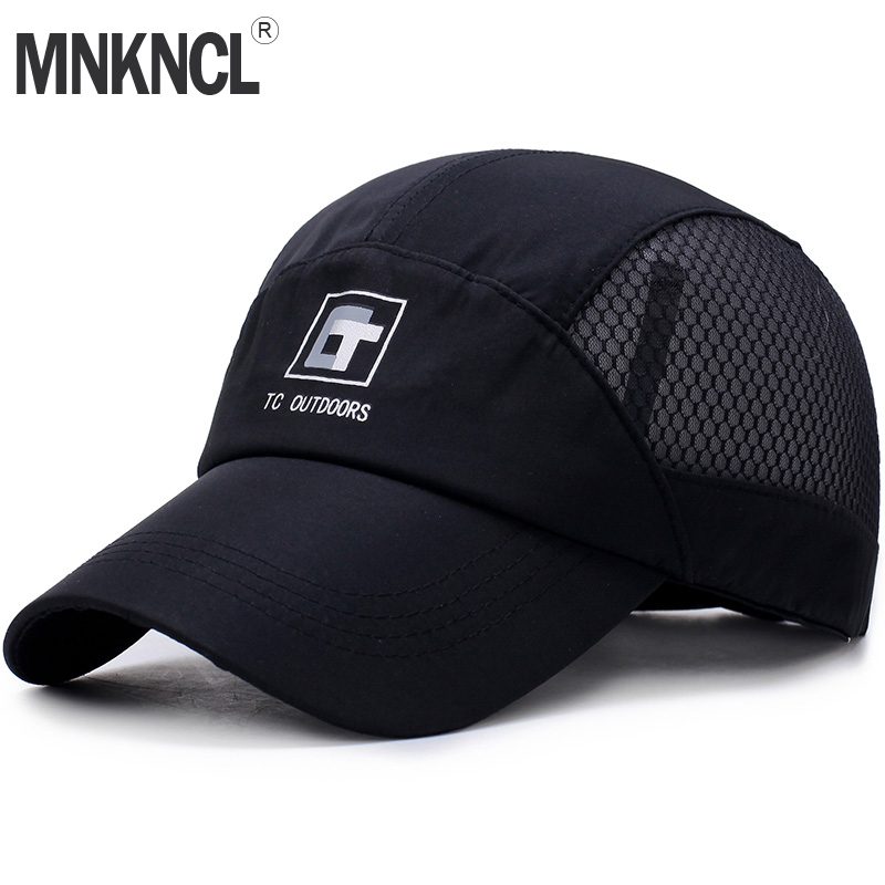 MNKNCL Brand Baseball Cap Quick Dry Travel Hats Cooling Portable Sun Hats for Sports Golf Fishing Outdoor Casquette Caps