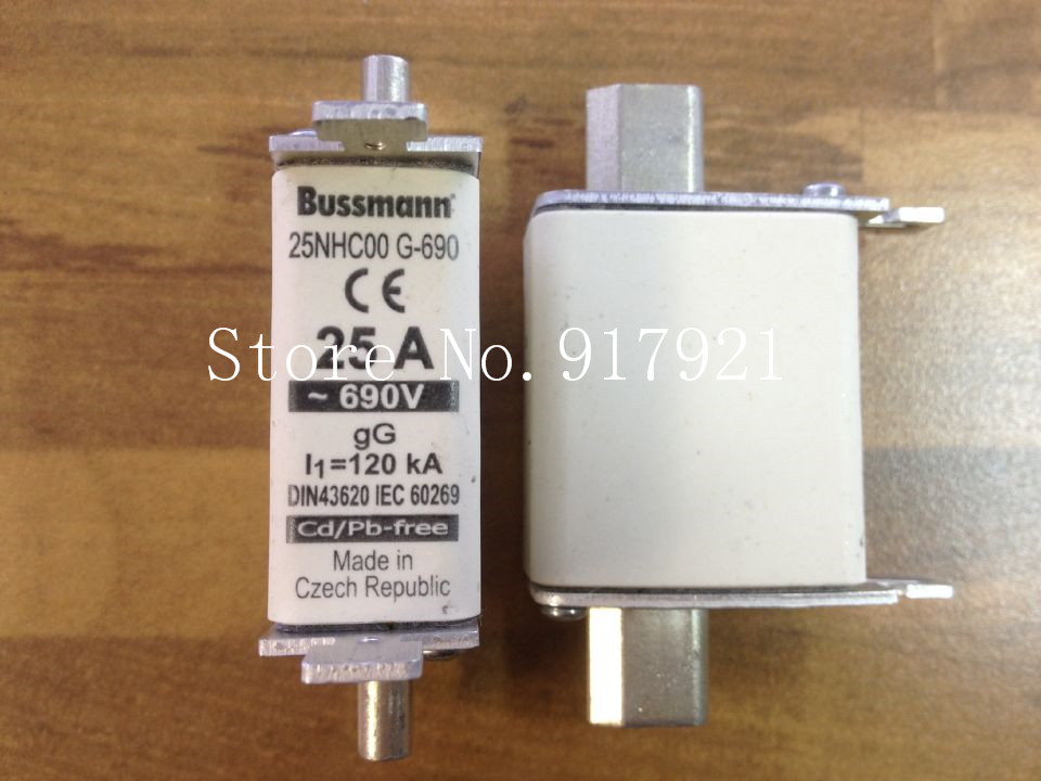 [ZOB] The United States Bussmann 25NHC00 G-690 25A690V BUSS fuse fuse original  --5PCS/LOT[ZOB] The United States Bussmann 25NHC00 G-690 25A690V BUSS fuse fuse original  --5PCS/LOT