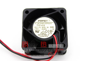 Free Shipping DC12V 0.08A Server Cooling Fan For ebm-papst TYP412 4020 Server Square Fan 2-wire 40x40x20mm