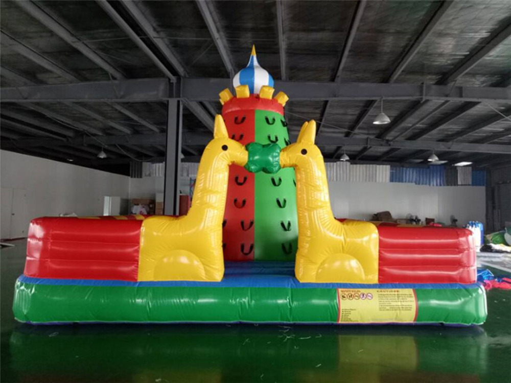 High quality customize amusement park outdoor sports games children inflatable climbing wall for amusement