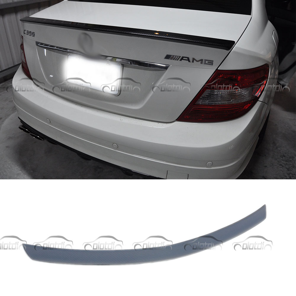 AMG style Mercedes W204 Carbon Fiber Rear Trunk Tail Wing Spoiler For Benz C Class W204 2007 - 2013 C180 C200 C300 C350 sedan цена