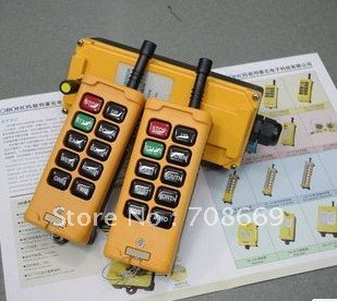 2 Transmitters 4 Motions 1 Speed Hoist Crane Truck Remote Control System