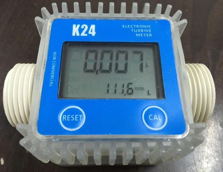 K24 10-120L/MIN turbo électronique débitmètre Diesel carburant Méthanol Urée Précision réglable débitmètre