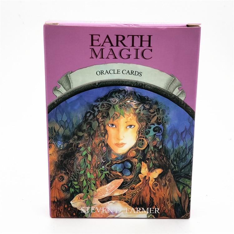 English Magic Oracle Cards Earth Magic read Fate Tarot Card Game Divination Board game  48pcs/set