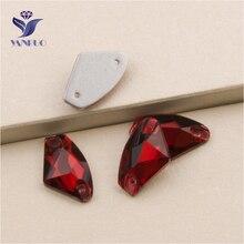 YANRUO diamantes de imitación para costura, gemas brillantes Lt.Siam, Parte posterior plana galáctica, Strass, cristales, apliques de cristal, 3256, todos los tamaños