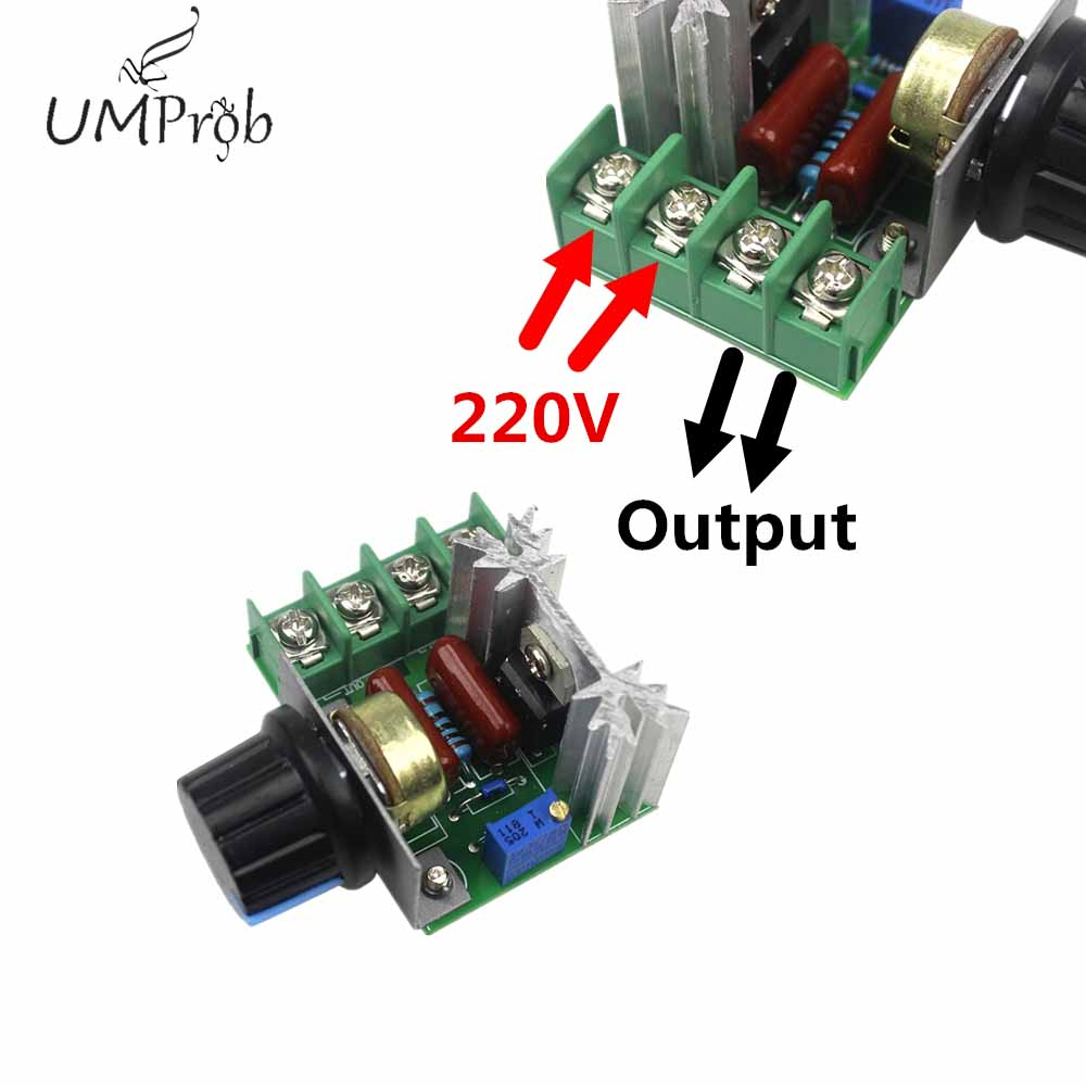 AC 2000W 220V SCR  High Power Thyristor Dimmer Electronic Voltage Regulator For Temperature  Control  Free Shipping