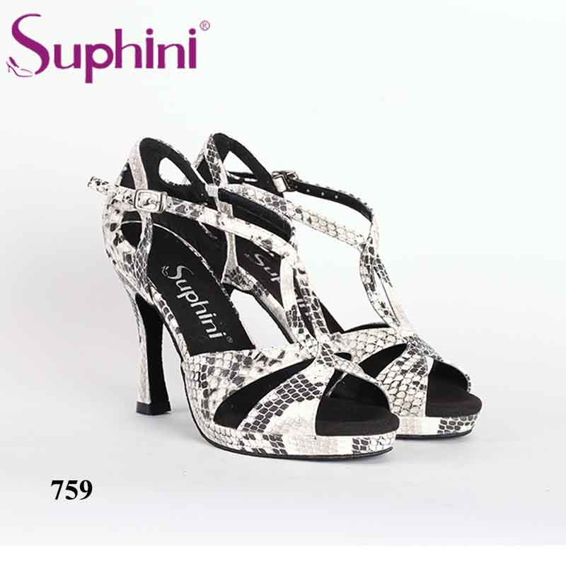 Free Shipping Suphini High Heel 10cm Dance Shoes Snake Print Party Shoes Platform Woman Prom Banquet Shoes